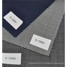 Klassisches italienisches Design Twill Kammgarn 70% Wolle 30% Polyester Anzug einheitliche Gewebe in verschiedenen Farben
