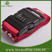 Custom Password Lock Correa de equipaje Travel Belt Fabric Belt