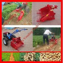 Alta Eficiente colheitadeira de amendoim com 10hp mão andando trator