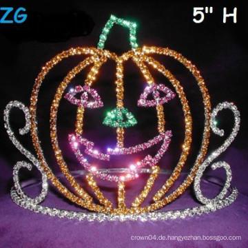 Nettes farbiges Lächeln Kürbis-Festzug-Krone, Halloween-Festzug-Krone