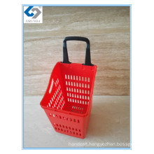 68L Large Volume Laundry Shopping Baskets with 4 Wheels