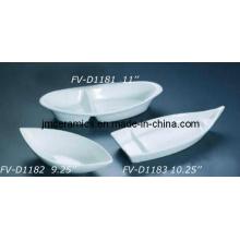 Bol en forme de bateau en porcelaine