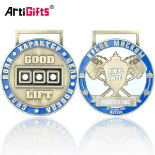Wholesale Miraculous Russia Kettlebell Lifting Sport Medal Enamel Color