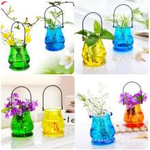 Vaso moderno do vidro de cristal da decoração da forma do estilo pastoral