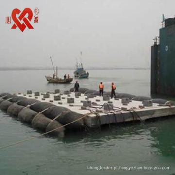 Equipamento profissional do navio do salvamento que flutua a bolsa a ar de borracha / pontão do salvamento usado para o navio que lança e que levanta