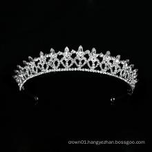 New Design Wedding Crystal Crown Silver Bridal Tiara Luxury Headpiece