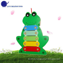 Baby Hand Knock Lovely Frosch Musikinstrumente Spielzeug Pull Holz Xylophon
