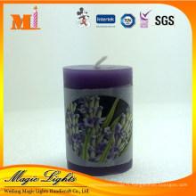 Bougie parfumée de pilier de lavande à vendre