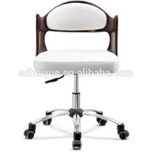 Лучшие продажи белый кожаный стул офиса переклейки компьютерное кресло с колесами