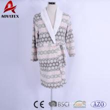 factory cheap price print microfiber coral fleece plush sherpa bathrobe
