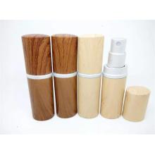 Nuevas botellas de cristal del perfume del grano de madera del diseño para la fragancia, botellas de cristal cosméticas