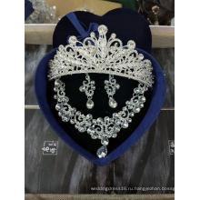 Ожерелье Корона Серьги Свадебные Аксессуары