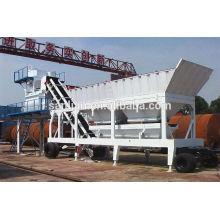 75m3/h mobile concrete batching plant