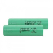 Melhor bateria de iões de lítio Bateria 18650 Bateria de íon de lítio de 2.500mAh 3.7V Samsung-25r