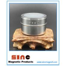 Canette d'assaisonnement visuel magnétique en acier inoxydable
