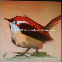 Pintura hermosa roja del pájaro
