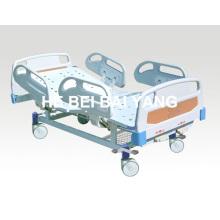 Cama de hospital móvel de função dupla com cabeça de cama ABS