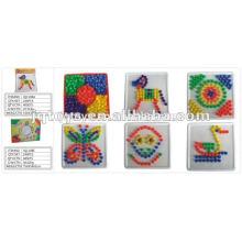 JQ1108 Preescolar Educativo Bloque Juguetes Niños plástico Diy Arte Puzzle Desktop Juguete