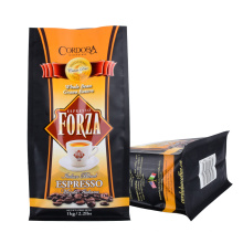 Roasted Coffee Coffee Bean Octagonal Seal Bag with Valve Folding Buckle Zipper Packing Material Coffee Bean Powder Packaging Bag