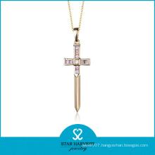 Genuine Silver Semi-Precious Stone Jewelry Opal Cross Pendant (N-0171)