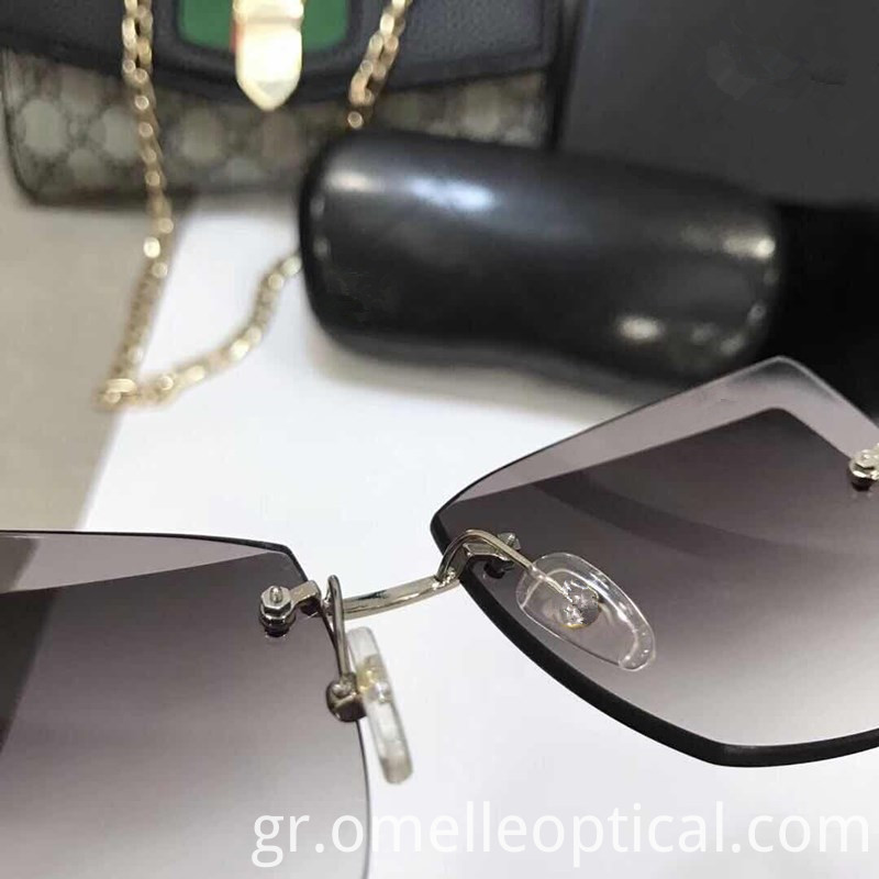 Mirror Rimless Sunglasses