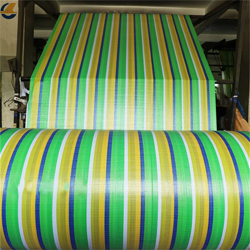 PE GREEN STRIPED FABRIC