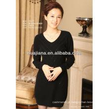 moda feminina cachemira suéter vestidos