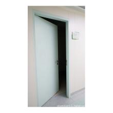 Environmentally friendly galvanized steel single open steel door for hospital room