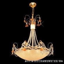 Éclairage intérieur direct d'usine Lustres en cristal d'or et lumières pendantes