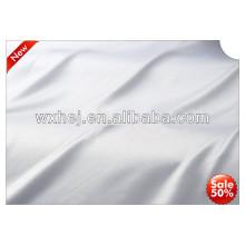 preço de fábrica branqueada 100% tecido de hotel branco liso de algodão