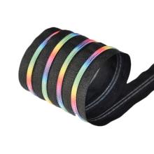 Best Price Colored Customized #5 Teeth Rainbow Nylon Zippers
