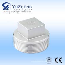 Industrial aço inoxidável rosca Square Plug