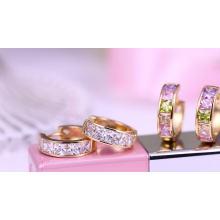 29255 Xuping Jewelry 18K Gold Plated Fashion Huggies Earring For Women