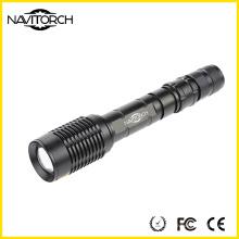 Xm-L T6 10W Zoomable Dauerhafte Aluminium-LED-Taschenlampe (NK-366)