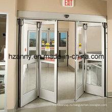 Автоматические двери с двойным складыванием