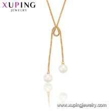 44998 xuping jewelry fashion trendy dancing peal pendant necklace