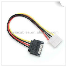 15 Pin SATA Male to 4 Pin Female Power Cable