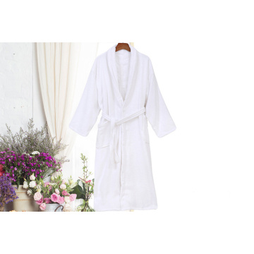 White Cotton Hotel Robes Toweling Baju mandi