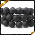 Natürliche Achat Perlen, schwarze Onyx glatte runde Perle, Stein Perlen Schmuck, Edelstein (GB002)