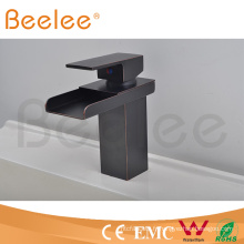 Nouveau noir orbe simple poignée ouverte cascade salle de bain salle de bain Baisn Tap Mixer