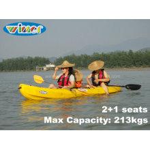 3.68mtrs 2 + 1 assentos Touring Plastic Família Kayak