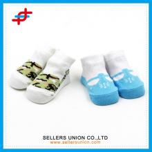3D carton socks for lovely baby , Newborn Baby Kids Girl Anti-slip Lace Floral Socks