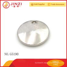 Popular circular metal labels for bag accessories