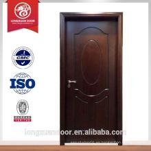Venta caliente puerta moderna de la casa puerta de madera interior diseño de la puerta de la habitación del hotel de diseño dormitorio o puerta del inodoro