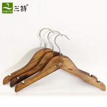barato cabide de madeira das crianças em linha reta