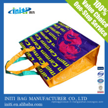 Eco-friendly Quality Printing promotionnel pp woven shopping bag avec zip