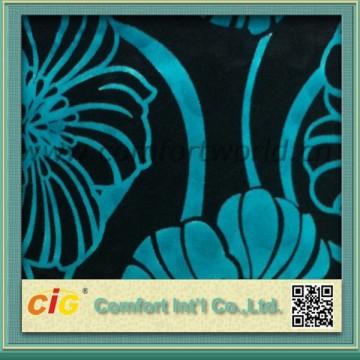 Impreso de poliéster tejido de terciopelo para sofá nuevo patrón