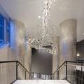 Hotelvilla Halle Esszimmer großer hängender Kronleuchter