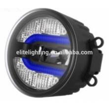 Emark profissional standrad 90mm LED luz de nevoeiro com DRLs