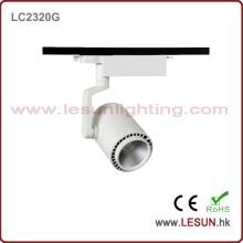 Heiße Verkäufe 20W Weiß / Schwarz COB Track Light für Museum LC2320g